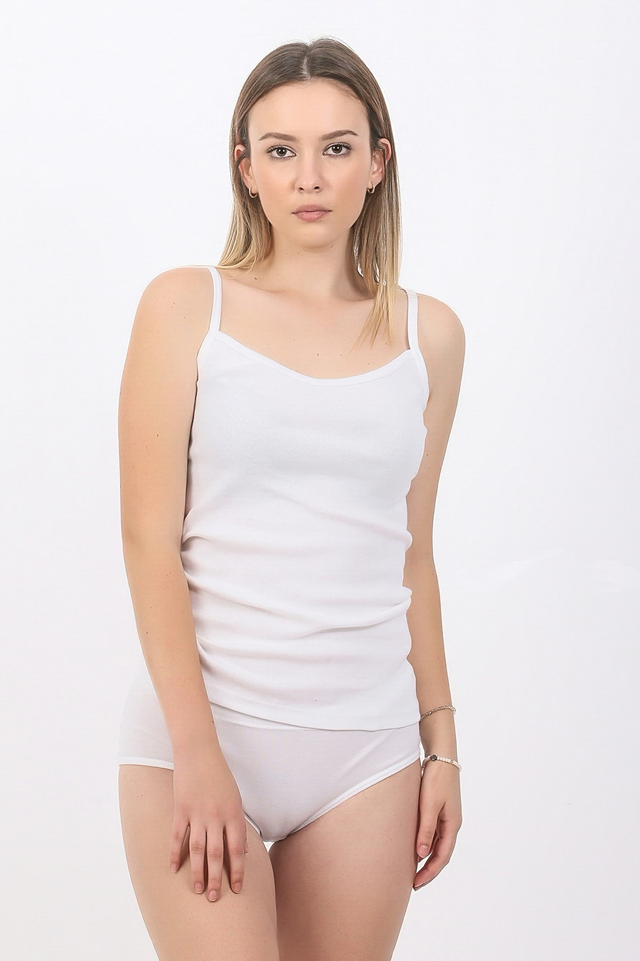 Zenska majica uska bretela ART.702 (bela- gornji deo)