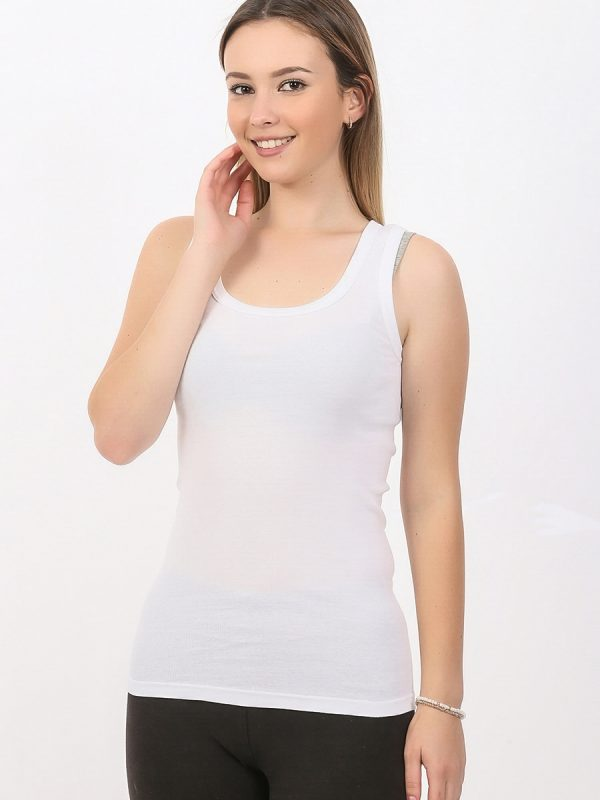 Zenska majica siroka bretela bela ART.714 (bela)